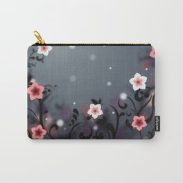 Pink and white flowers - Elegant Carry-All Pouch