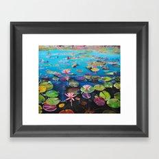 Colorful pond Framed Art Print