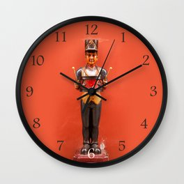 Carved drummer figure decoration Wall Clock