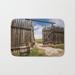 Historic Fort Bridger Gate - Wyoming Bath Mat