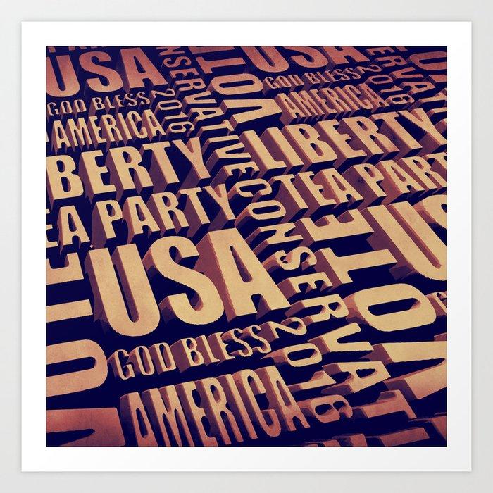 Tea Party Text Art Print