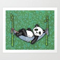 iPod Panda - The Lazy Days Art Print