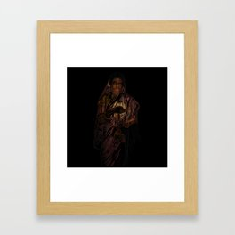 49-Lady With The Lamp Framed Art Print
