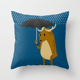 Rain-Deer Throw Pillow
