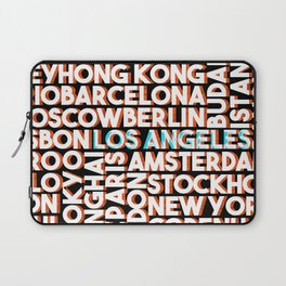 L.A. - City names typo graphic Laptop Sleeve