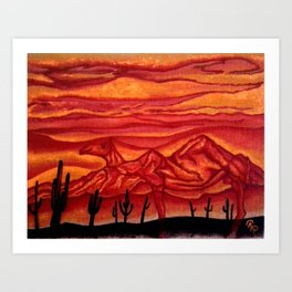 Camelback Mountain Phoenix, AZ Art Print