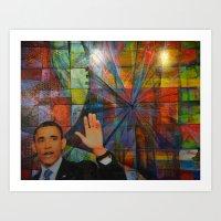 Obama 2 Art Print