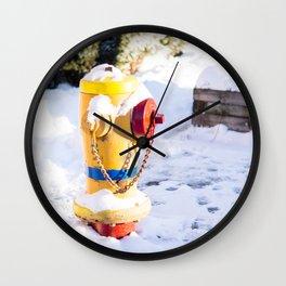 Fire Hyrdrant Wall Clock