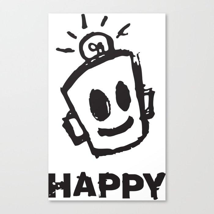 HAPPY  Canvas Print