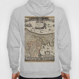 Map Of Holland 1630 Hoody