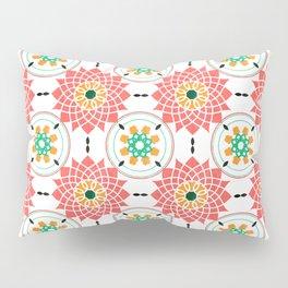 morrocan pink mandala pattern no4 Pillow Sham