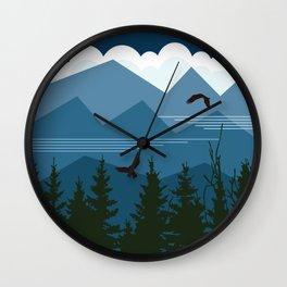 Blue Mountain Skyline Wall Clock