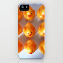 Rubber Ducks in a Row iPhone Case