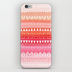 Triangle Gradient Pink Mix iPhone & iPod Skin