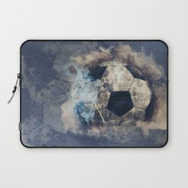 Abstract Grunge Soccer Laptop Sleeve