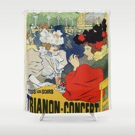 Paris garden Trianon Montmartre concert Shower Curtain