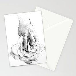 Hand&Rose study I Stationery Cards