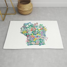 Wisconsin Wildflowers Rug