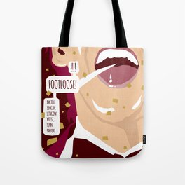 80s TEEN MOVIES :: FOOTLOOSE Tote Bag