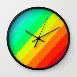 Pixel Rainbow Dreams Wall Clock
