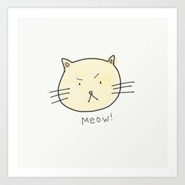 CatMeow Art Print