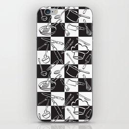 Kitchen Tools Checkerboard iPhone Skin