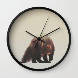 Veluwe V2: Pine Marten Wall Clock