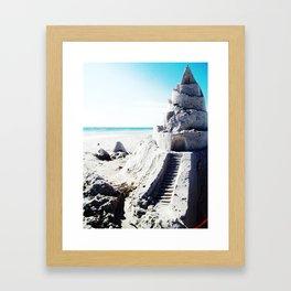 Same Beach, Same Castle Framed Art Print