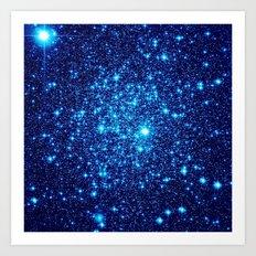 Vivid Blue gALaxY Stars Art Print