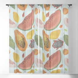 Papayas, watermelons and tropical flavours!  Sheer Curtain