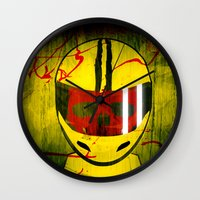 kill bill Wall Clocks featuring kill bill by MAKE ME SOME ART