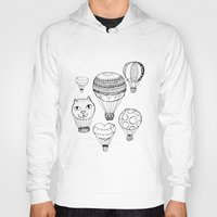 hot air balloons Hoodies featuring dreaming of hot air balloons by Oh, Hopscotch!