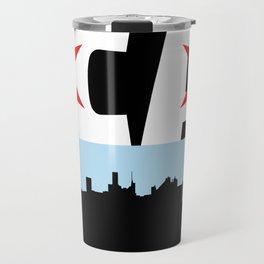 Chicago Flag Skyline Travel Mug