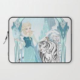 Frozen White Tiger Laptop Sleeve