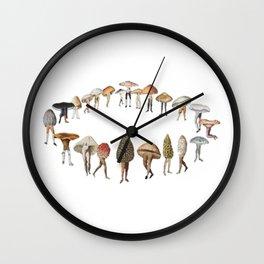 legs and mushrooms Wall Clock