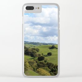Treely Hilly Clear iPhone Case
