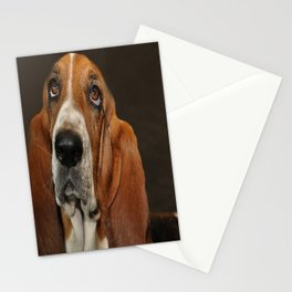Lost In Thought Basset Hound Dog Stationery Cards