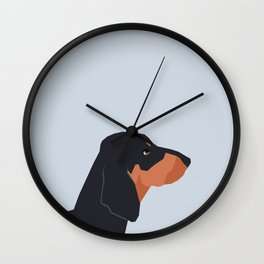 Dakota - Dachshund phone case fun and bright for pet lovers and gift for dog people Wall Clock