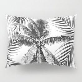 South Pacific palms II - bw Pillow Sham