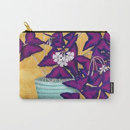 Purple Shamrock Houseplant Painting Carry-All Pouch