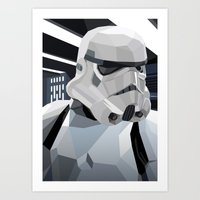 storm Art Prints featuring Stormtrooper by Liam Brazier
