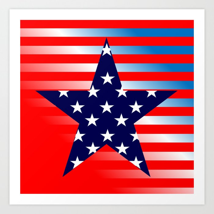 Patriotic American Symbols Kunstdrucke