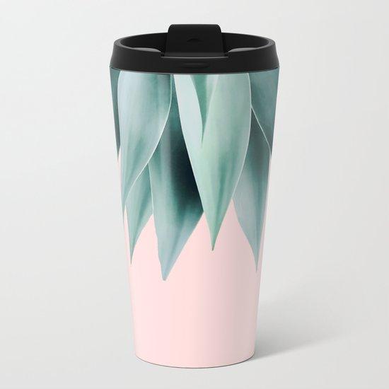 Agave fringe - blush Metal Travel Mug