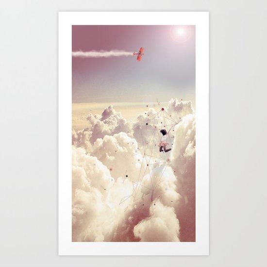 JUMPING IN FLUFFY R' Art Print
