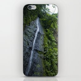 Thin Waterfall Cascading in the Rainforest of the Chocoyero-El Brujo Nature Reserve in Nicaragua iPhone Skin