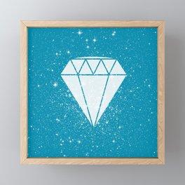 Space Diamond (blue) Framed Mini Art Print
