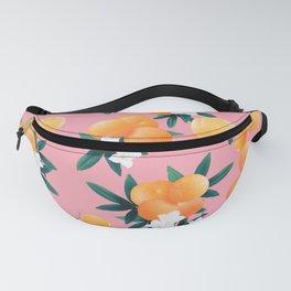 Orange Twist Flower Vibes #4 #tropical #fruit #decor #art #society6 Fanny Pack