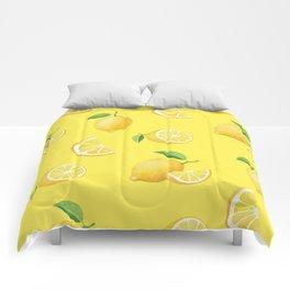 Lemons on Yellow Comforters