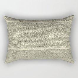 The Rosetta Stone // Parchment Rectangular Pillow