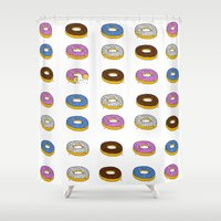 doughnut Shower Curtains featuring Doughnut by PSHAWWHO